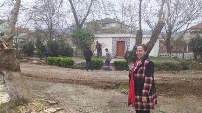 Saltukova'da Aile Çay Bahçesi Temizlik Ve Restorasyon Çalışmaları Devam Ediyor