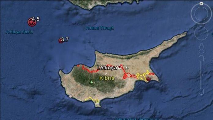 Kıbrıs'ta Bir Günde 3 Deprem