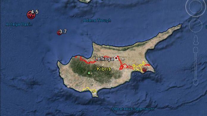 Akdeniz ve Kıbrıs'ta 7 saat içinde 3 deprem