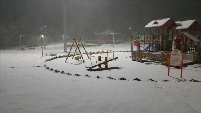 Denizli'ye kar yağdı