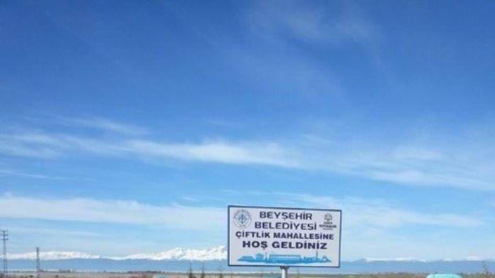 Beyşehir'in Mahallelerine Yeni Tabelalar