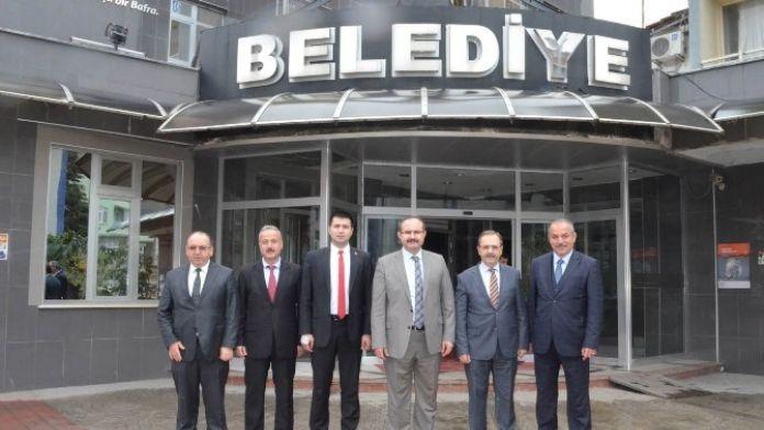 Ayancık Ve Türkeli Protokolünden Başkan Şahin'e Ziyaret