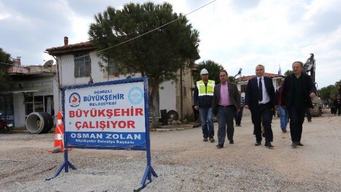 Başkan Zolan, Tavas'ta Altyapı Yatırımlarını İnceledi