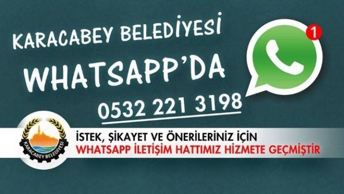 Karacabey Belediyesi Whatsapp'ta