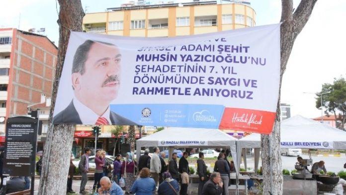Nazilli'de Yazıcıoğlu Hayrına Lokma Dağıtıldı