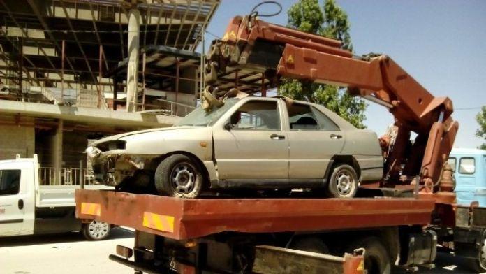 Selçuklu'da Hurda Araçlar Tehlike Olmaktan Çıkıyor