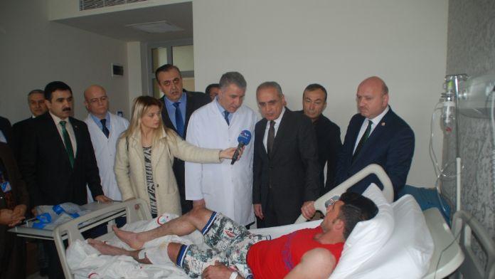 Topçu'dan yaralı Türkmenlere ziyaret