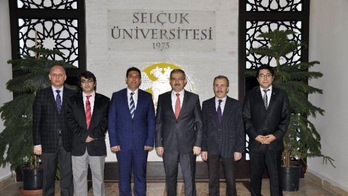 Mmo Konya Şubesinden Rektör Şahin'e Ziyaret