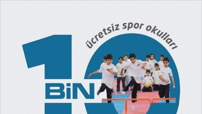 Ücretsiz Spor Okulları 10 Bin Çocuğa Ulaştı