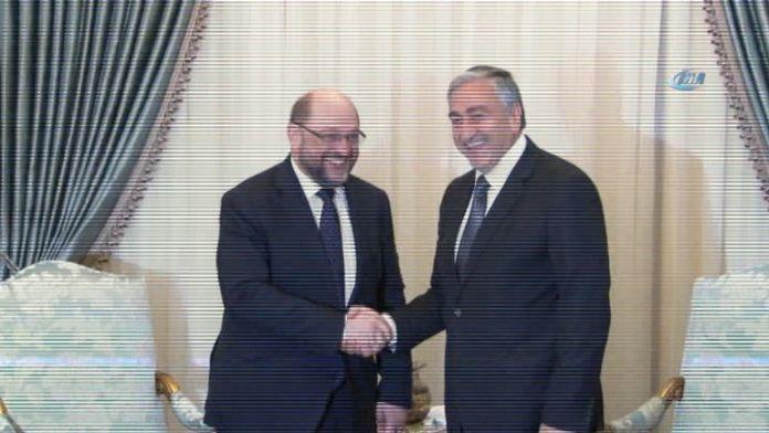 AP Başkanı Schulz, KKTC Cumhurbaşkanlığı'nda