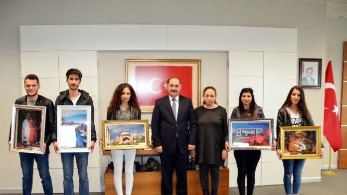Rölyef Kursiyerlerinden Rektör Şimşek'e Ziyaret