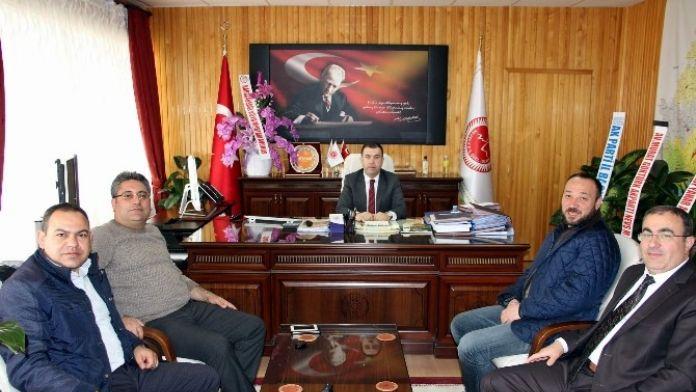 Çat Belediye Başkanı Duru, Özel İdare Genel Sekreteri Eldivan'ı Ziyaret Etti