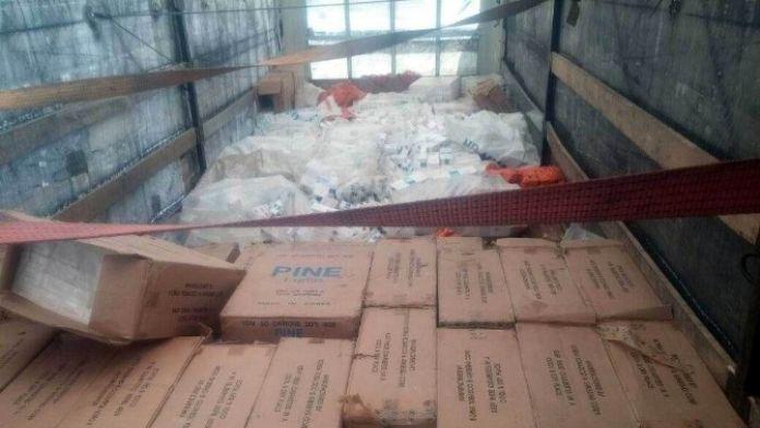 Adıyaman'da 170 Bin Paket Kaçak Sigara Ele Geçirildi