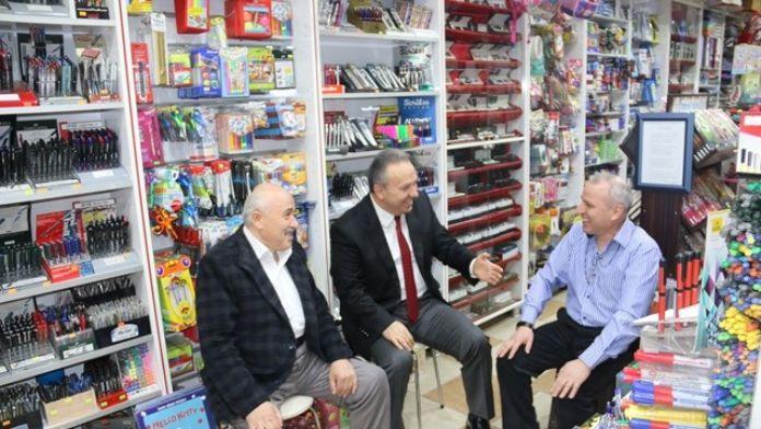 Vali Ali Fidan Esnaf Ziyareti Yaptı
