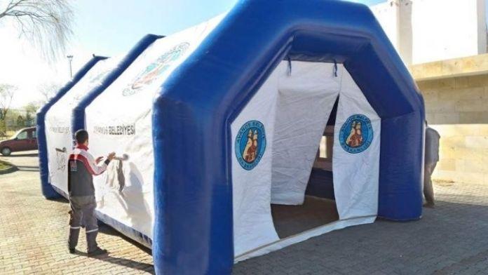 Avanos Belediyesinden Taziye Çadırı