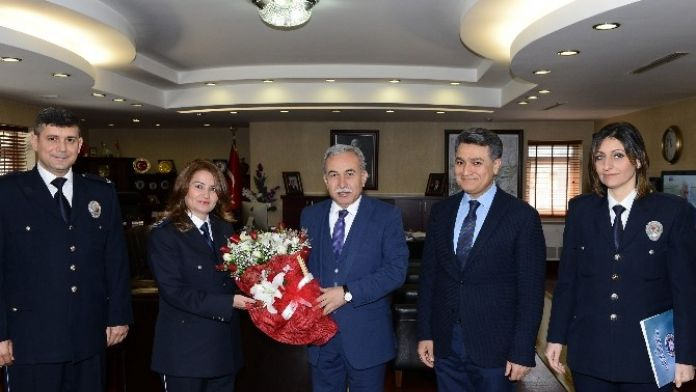 Emniyet Müdürü Zeybek'ten Vali Büyük'e 'Polis Haftası' Ziyareti