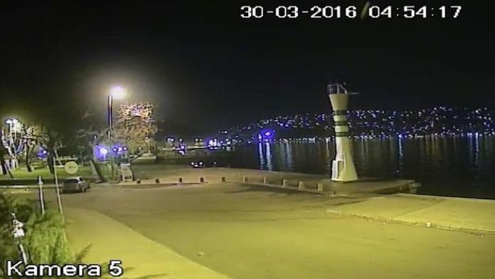(Özel Haber) Sarıyer'de Aracın Denize Uçması Güvenlik Kameralarında