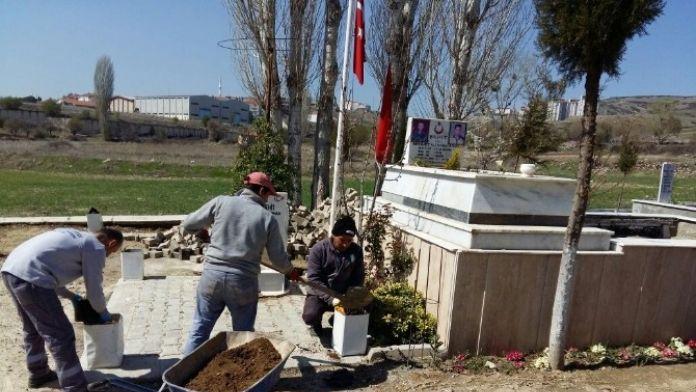 Kula Mezarlığına Çevre Düzenlemesi