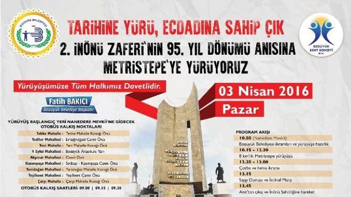 Bozüyük Belediyesi'nden Metristepe Zafer Anıtı'na 'Tarihine Yürü, Ecdadına Sahip Çık' Yürüyüşü