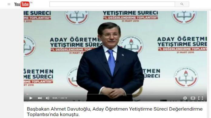 Davutoğlu Sosyal Medyada
