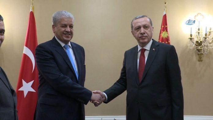 Cumhurbaşkanı Erdoğan, Cezayir Başbakanı ile görüştü