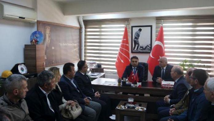 MHP'den, saldırıya uğrayan CHP İl Başkanı'na ziyaret