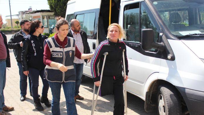 'Engelli' kadın taciri yakalandı