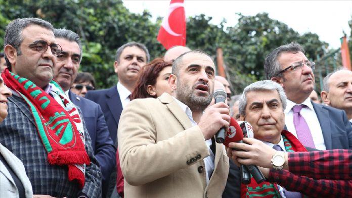 Gaziosmanpaşa Stadı önünde 'yıkım' protestosu