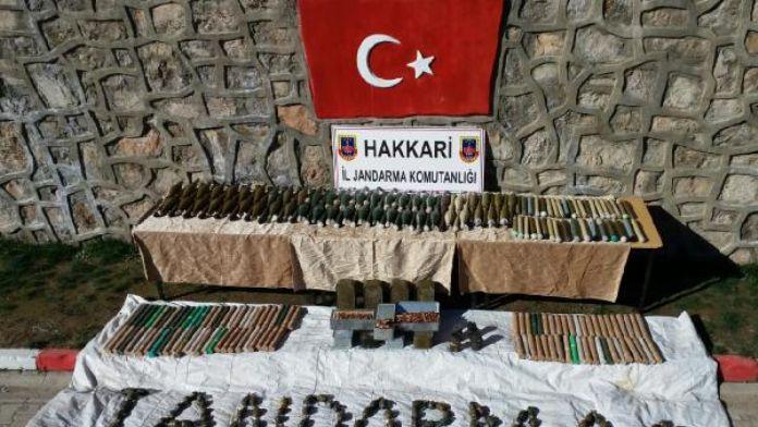 Çukurca'da PKK cephaneliği ele geçti