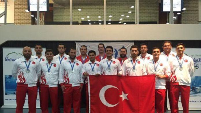 Türkiye, CMAS Sualtı Hokeyi Dünya Şampiyonası'nda ikinci oldu