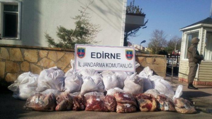 Edirne'de Kaçak ET Operasyonu