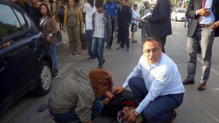 Belediye başkanından yaralıya ilk müdahale