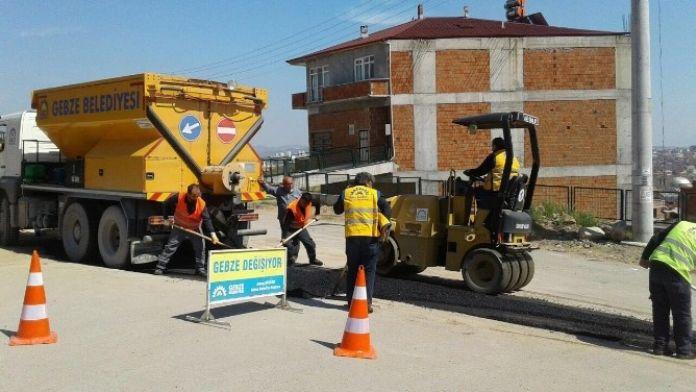 Gebze'de Asfalt Çalışmaları Hız Kesmiyor