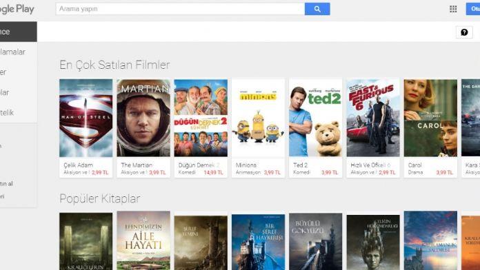 Google Play Filmler Türkiye'de