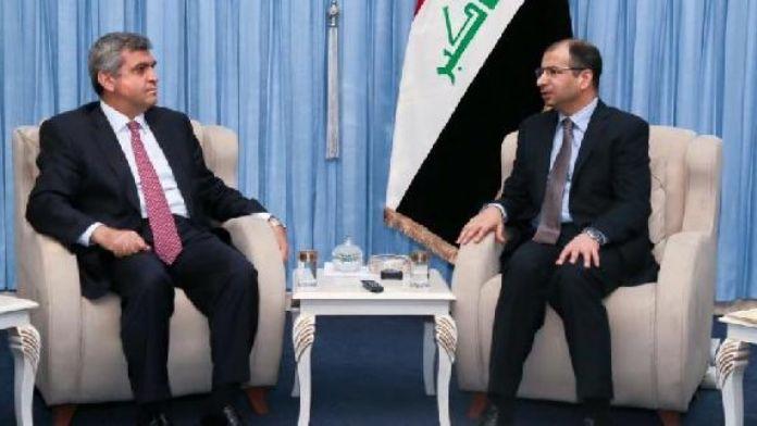 Irak Parlamento başkanı El Cuburi, Türkiye'nin Bağdat Büyükelçisi Kaymakcı ile görüştü