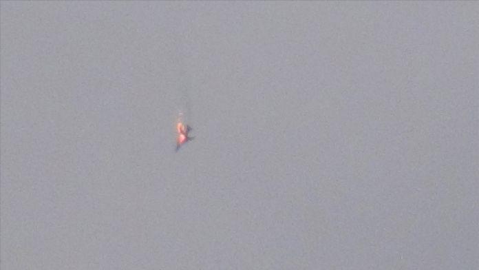 Muhalifler Halep'te savaş uçağını düşürdü