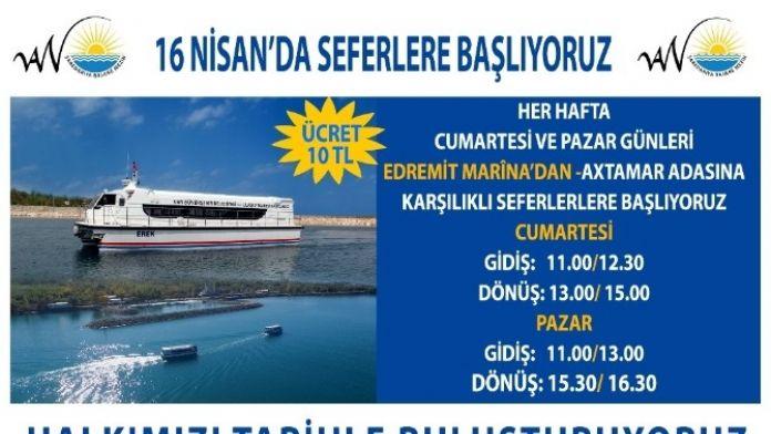 Van'da Deniz Otobüsleri Seferi 16 Nisan'da Başlıyor