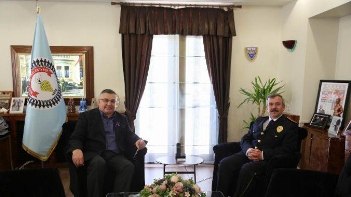 'Kırklareli İl Emniyet Müdürü Akay'dan Kesimoğlu'na Ziyaret