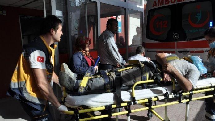 Ayağı Takılan İşçi İnşaatın Temeline Düştü