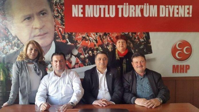 MHP Seyitgazi İlçe Başkanı Recep Kılıçaslan'dan MHP Eskişehir İl Başkanlığı'na Ziyaret
