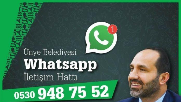Ünye Belediyesi'nden Whatsapp İletişim Hattı
