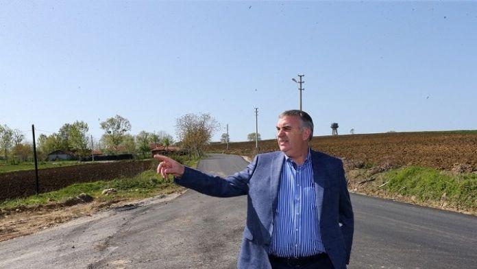 Başkan Toçoğlu Evrenköy'de Tamamlanan Asfalt Çalışmalarını İnceledi