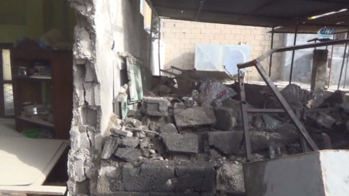 Kilis'te bir eve roket düştü: 2 yaralı