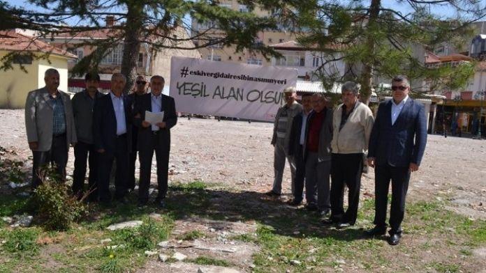Eskent, Vergi Dairesi Yerine Yeşil Alan İstiyor