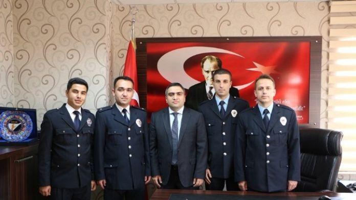 Kaymakam Karaaslan'a Polis Haftası Ziyaret