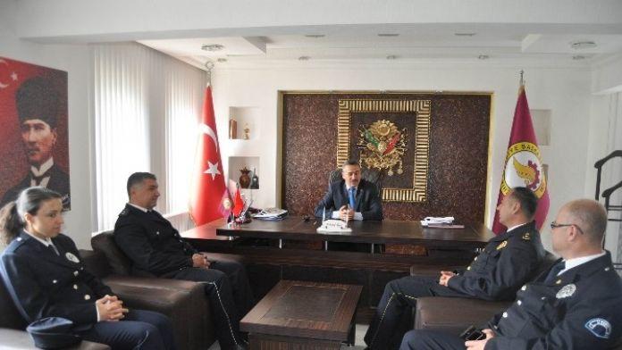 Emniyet Teşkilatından Başkan Tutal'a Ziyaret