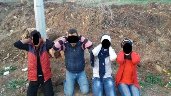 Kilis sınırında yabancı ülke vatandaşı 4 PYD'li yakalandı
