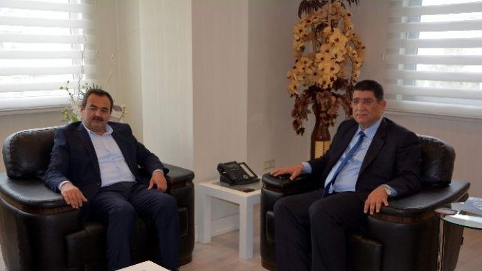AK Partili Samani'den Aesob Başkanı Dere'ye 'Hayırlı Olsun' Ziyareti