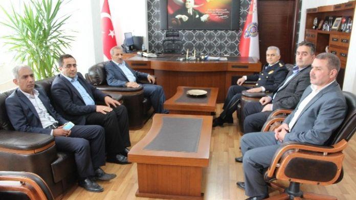 Milletvekilli Mustafa Şahin, İl Emniyet Müdürü Urhal'ı Ziyaret Etti
