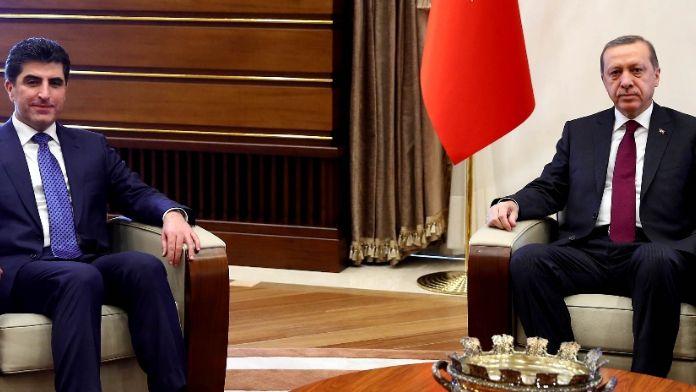 Erdoğan Barzani'yle görüştü